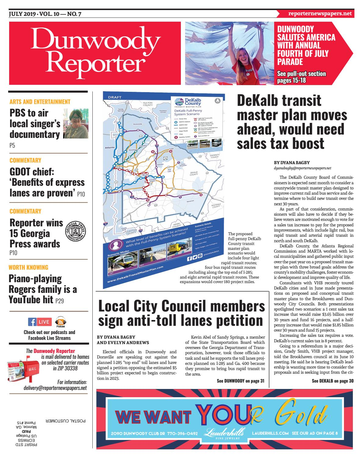 JULY 2019 - Dunwoody Reporter by Reporter Newspapers - issuu
