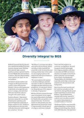 Page 14 of Diversity integral to Brisbane Grammar School