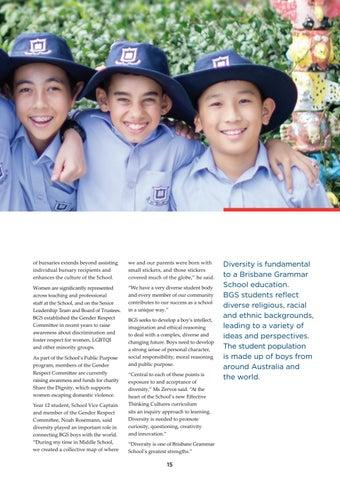 Page 15 of Diversity integral to Brisbane Grammar School