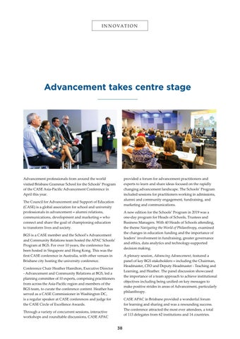 Page 38 of Advancement takes centre stage