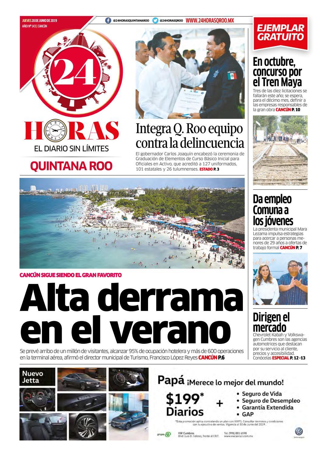 24 Horas Quintana Roo 20 De Junio 2019 By 24 Horas Quintana
