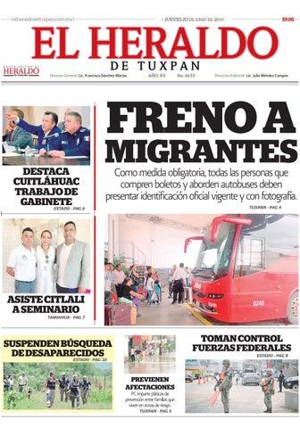 El Heraldo De Tuxpan 20 De Junio De 2019 By Poza Acme Issuu