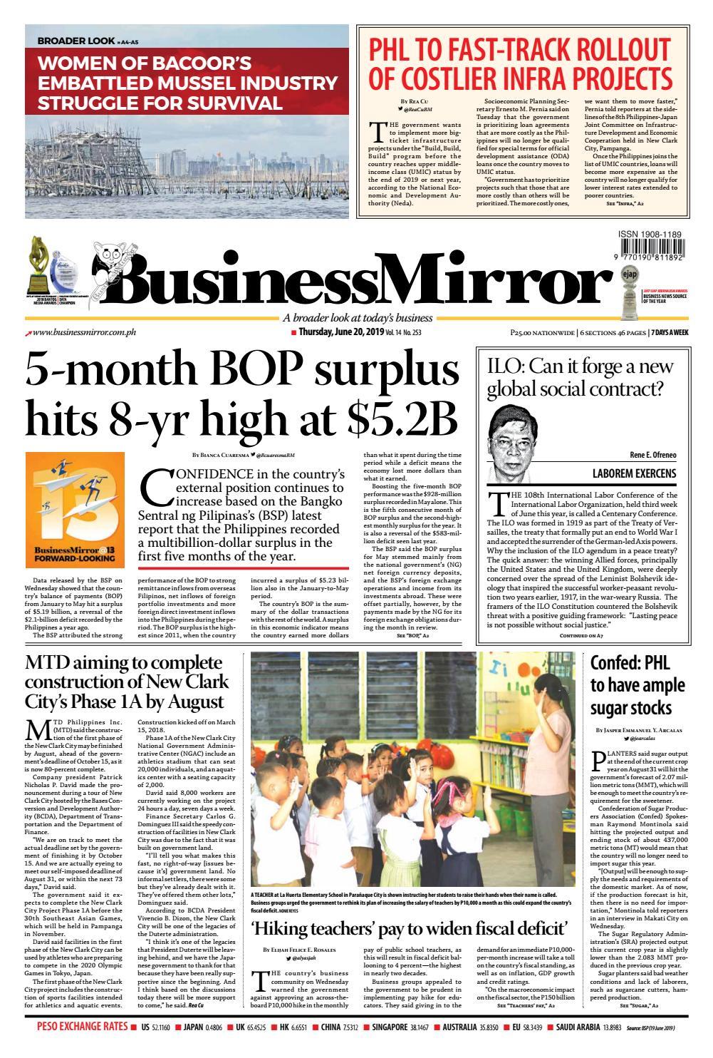 BusinessMirror June 20, 2019 by BusinessMirror - issuu