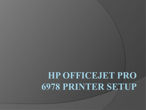 123 hp com OfficeJet Pro 6978 Printer Setup by itsalexjones