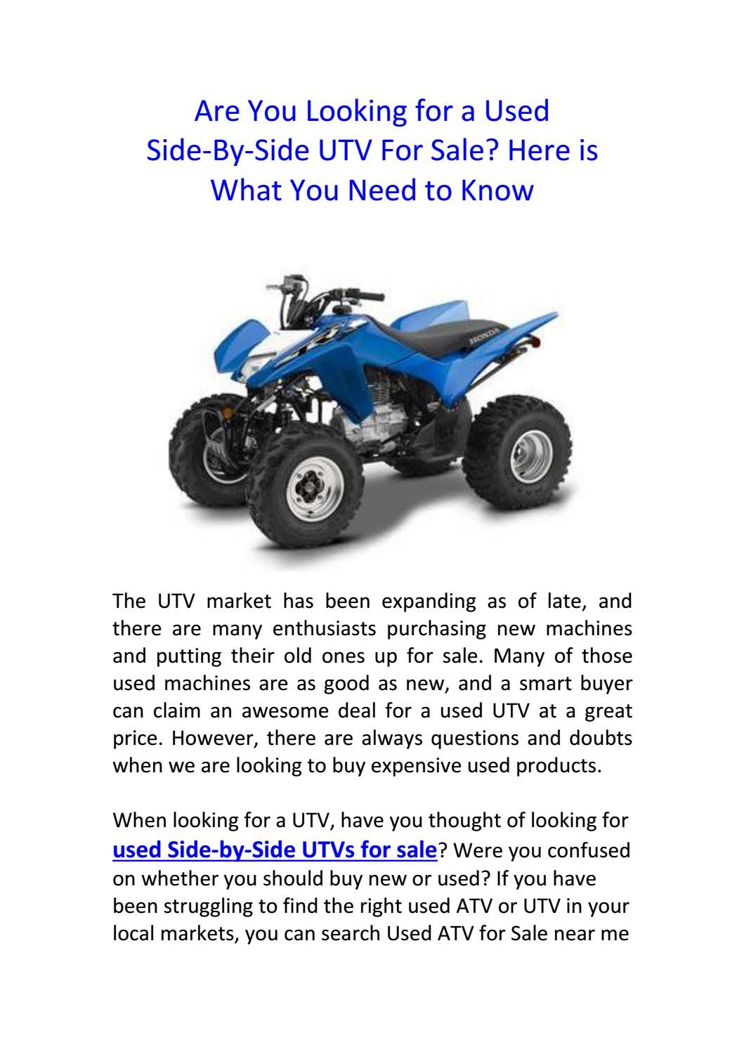 Atv Stores Near Me >> Are You Looking For A Used Side By Side Utv For Sale Here