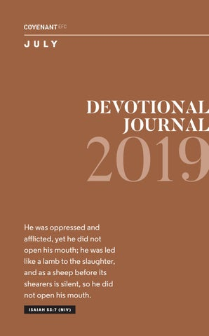 July Devotional Journal 2019 by Covenant EFC - issuu