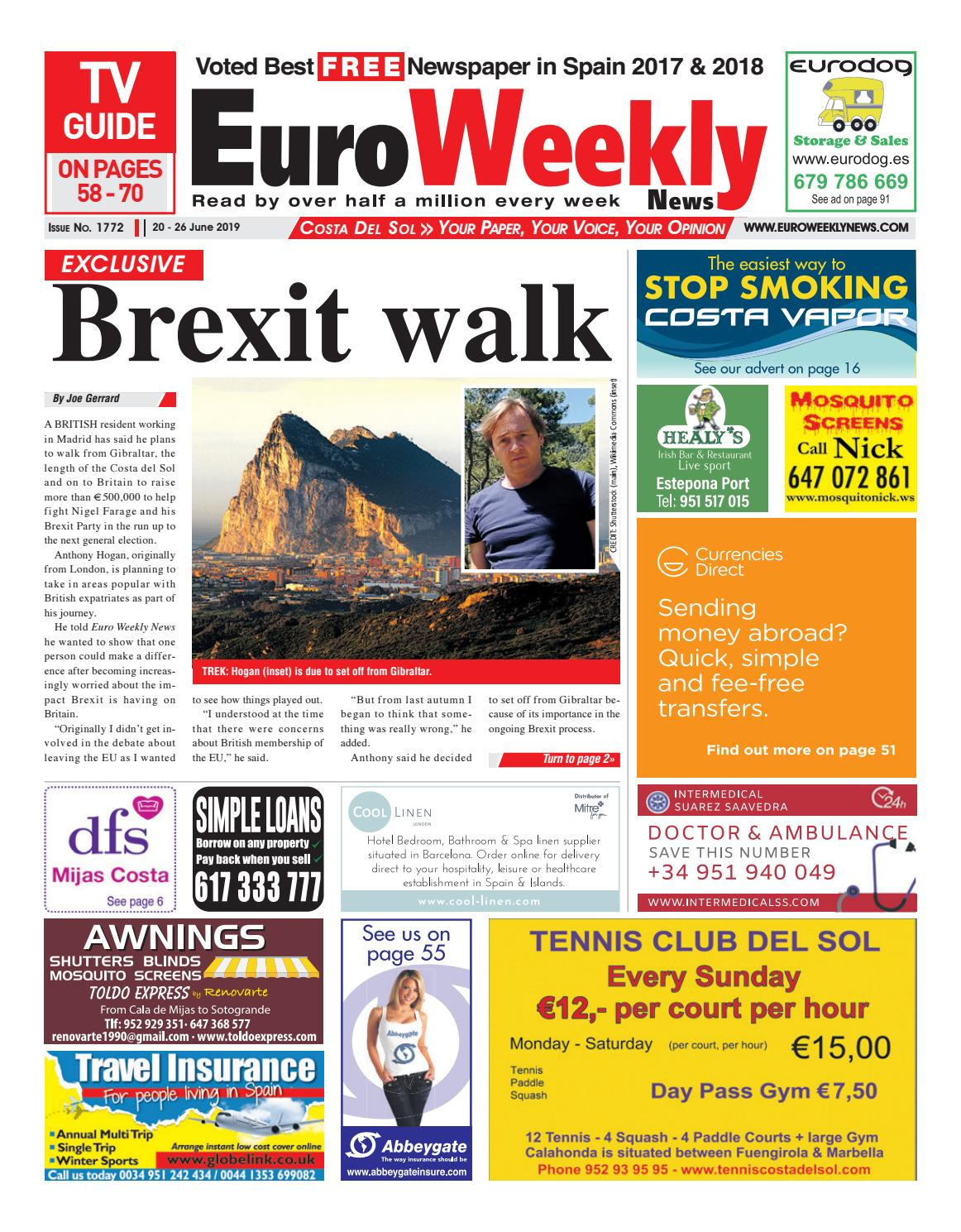 Euro Weekly News - Costa del Sol 20 - 26 June 2019 Issue