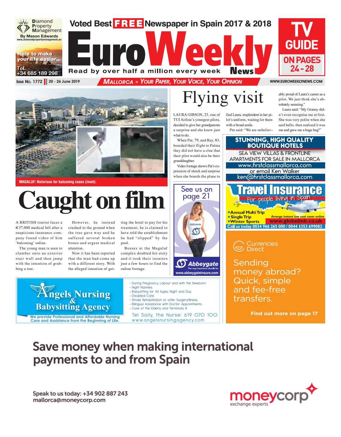Euro Weekly News - Mallorca 20 - 26 June 2019 Issue 1772 by