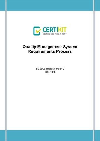 QMS-DOC-08-1 Requirements Process