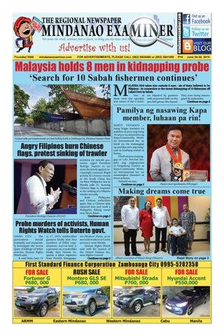 Mindanao Examiner Regional Newspaper (June 24-30, 2019) by