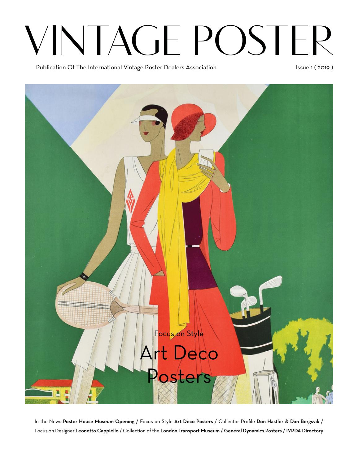 Vintage Poster Ivpda Publication Issue 1 2019 By Vintage Poster Ivpda Magazine Issuu