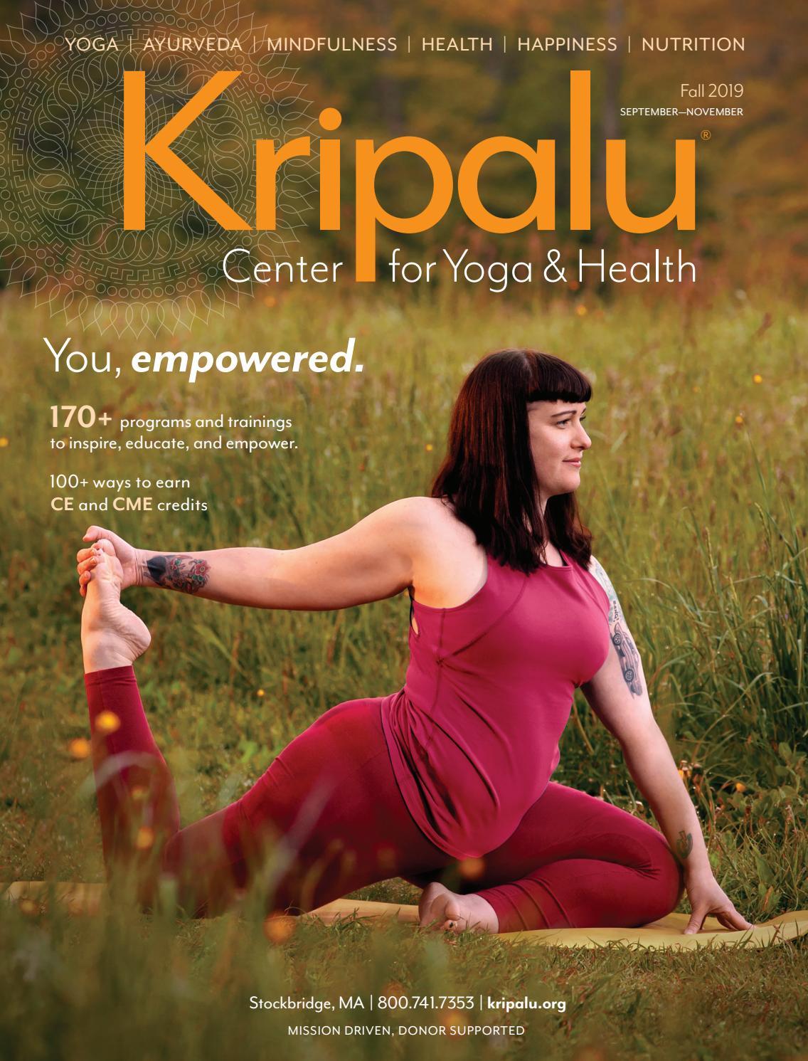 Kripalu Fall Catalog 2019 by Kripalu Center for Yoga & Health - issuu