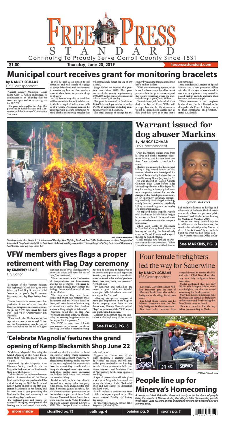 The Free Press Standard June 20, 2019 by Schloss Media - issuu