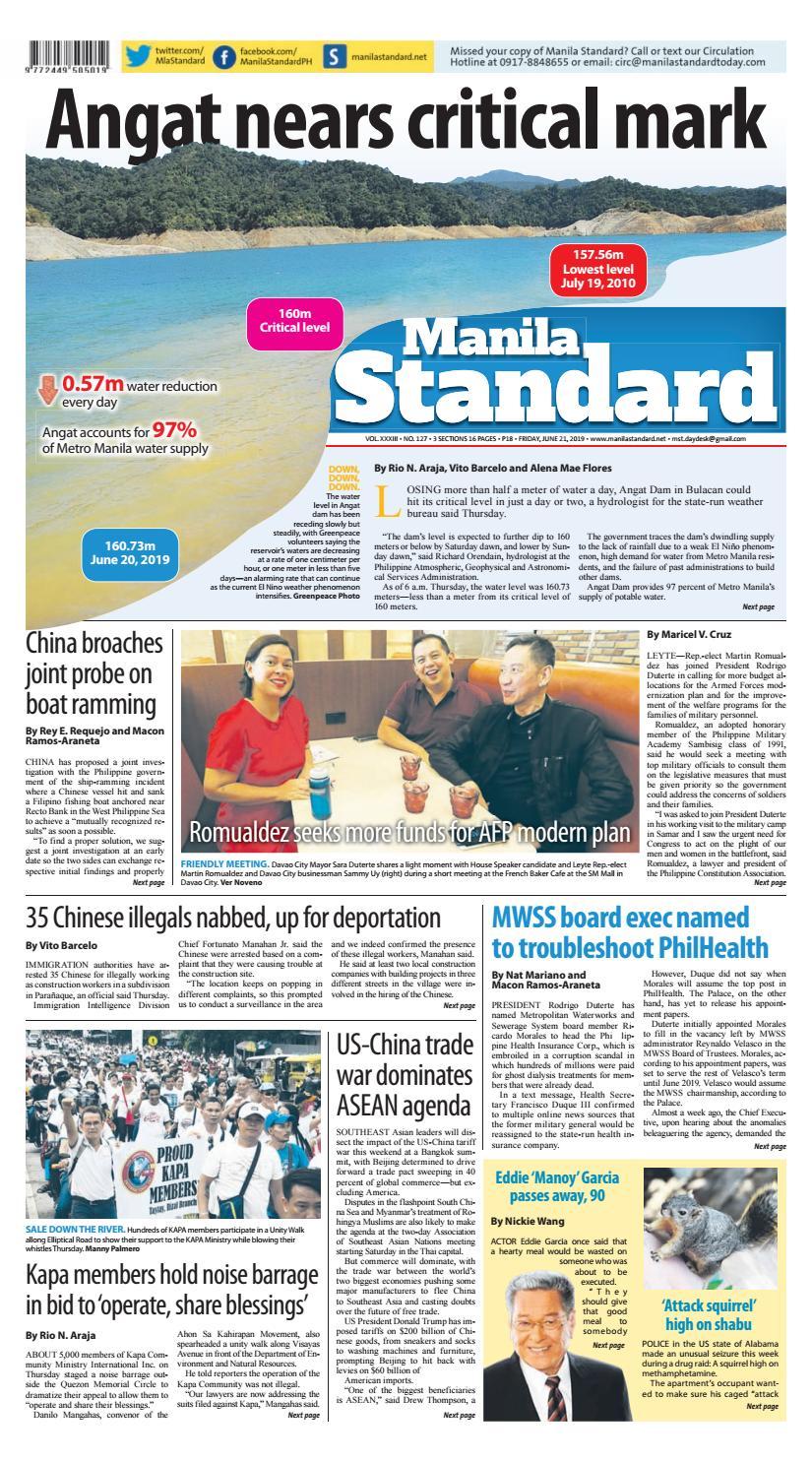 Manila standard 2019 june 21 friday by manila standard issuu