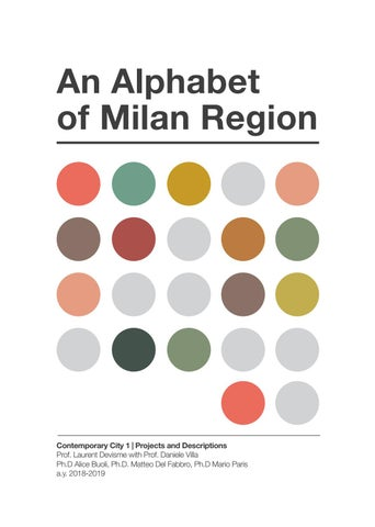 An Alphabet of Milan Region by Contemporary City 2019 - issuu