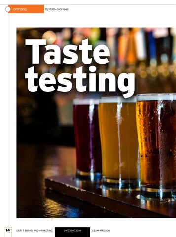 Page 14 of CBAM May/June Taste testing