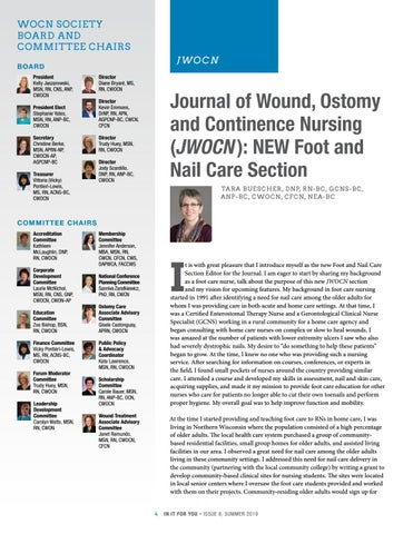 Page 4 of New Foot and Nail Care Section of the JWOCN