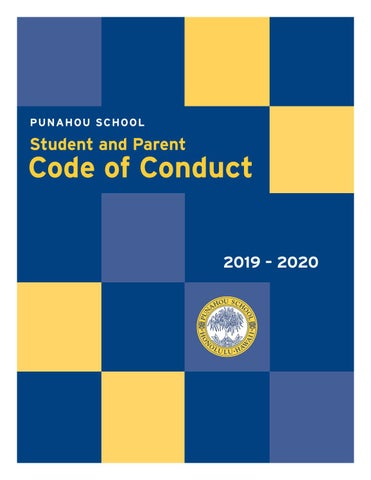 2019 – 2020 Punahou School Student and Parent Code of