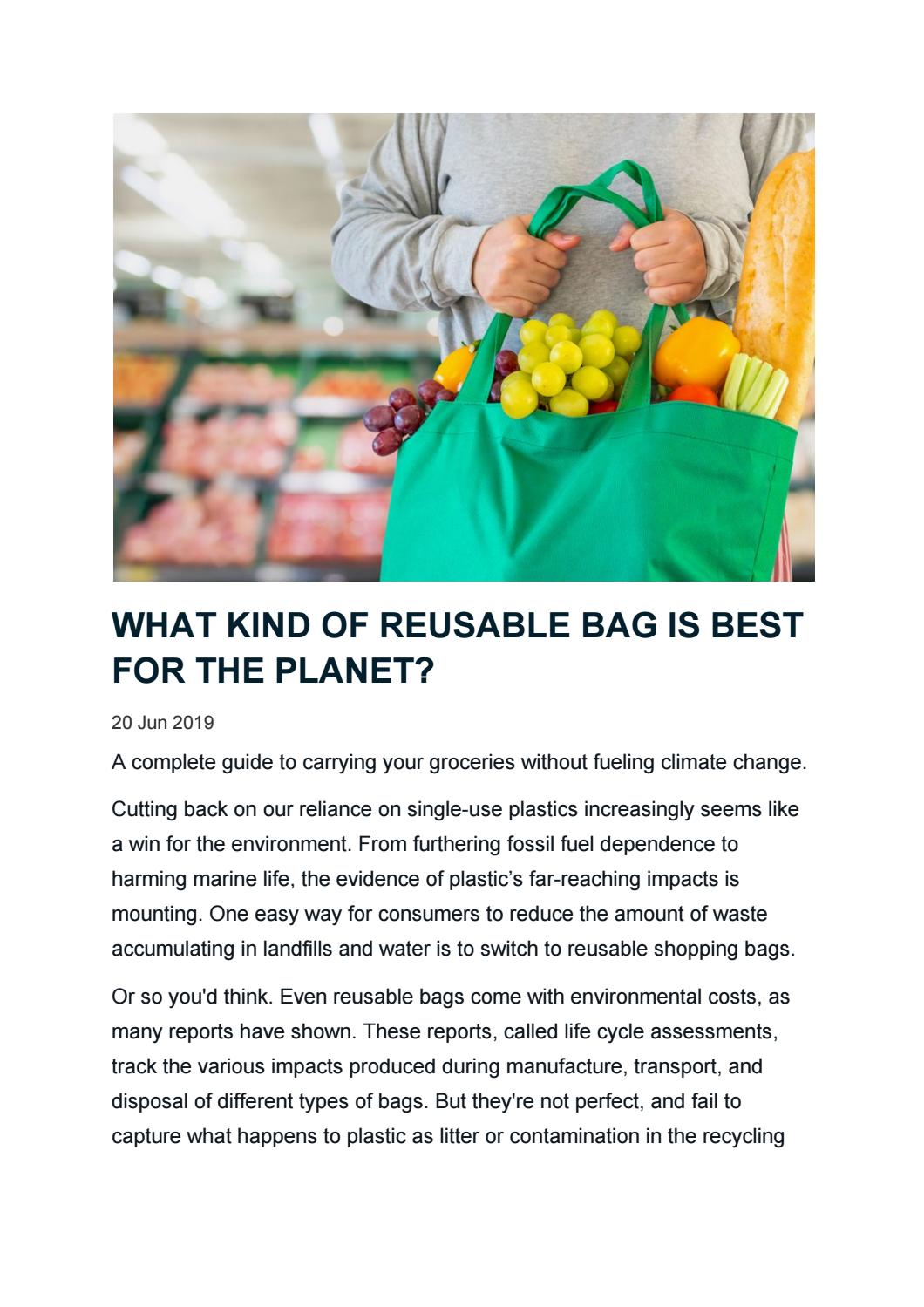 WHAT KIND OF REUSABLE BAG IS BEST FOR THE PLANET? by HaulTail APP