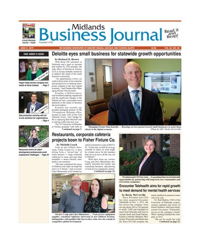 Midlands Business Journal June 21, 2019 Vol  45 No  25 issue by