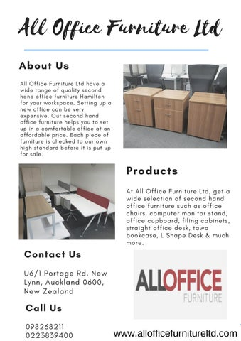 Used Office Furniture Auckland By Allofficefurnitureltd Issuu