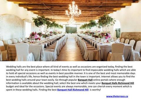 Banquet Halls Woodbridge Wedding Venues Vaughan By Chistiano