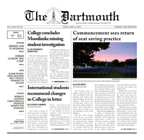 The Dartmouth 06/21/2019 by The Dartmouth Newspaper - issuu