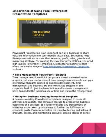 Free Powerpoint Templates By Slide Bazaar Issuu