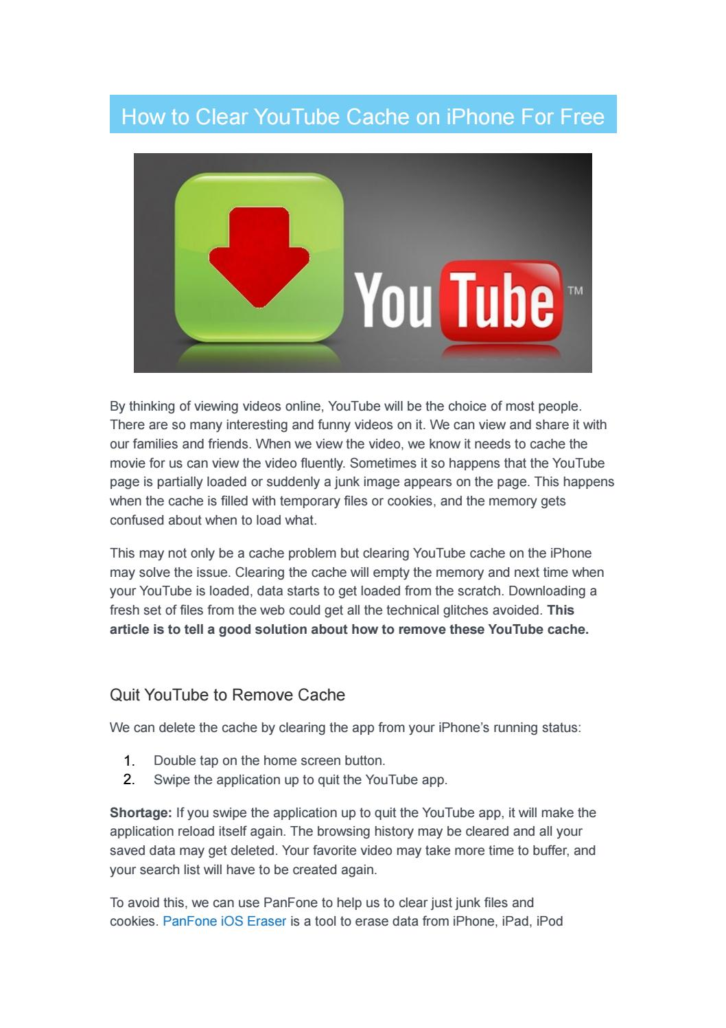 How to Clear YouTube Cache on iPhone For Free by PhoneSkill