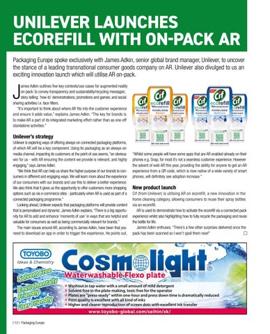 Page 14 of Unilever launches ecorefill with on-pack AR