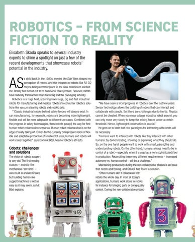 Page 30 of Robotics – from science fiction to reality