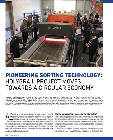 Page 36 of Pioneering sorting technology:  HolyGrail project moves towards a circular economy