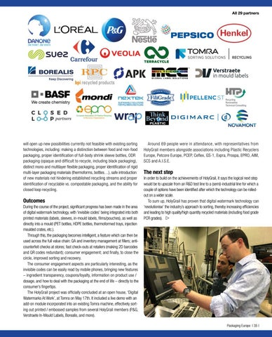 Page 37 of Pioneering sorting technology:  HolyGrail project moves towards a circular economy