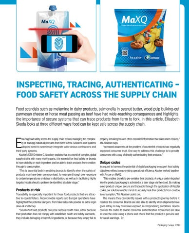 Page 41 of Inspecting, tracing, authenticating – food safety across the supply chain