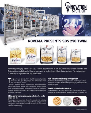 Page 49 of ROVEMA PRESENTS SBS 250 TWIN
