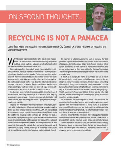 Page 50 of On second thoughts... Recycling is Not a Panacea
