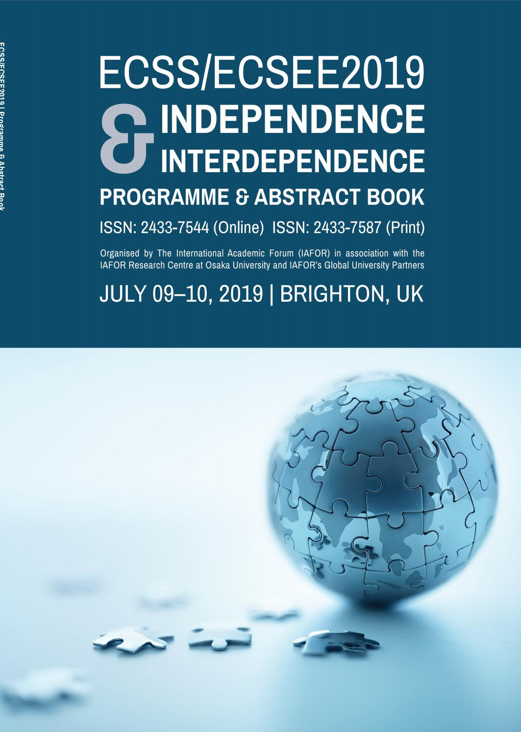 ECSS ECSEE 2019 Conference Programme & Abstract Book by