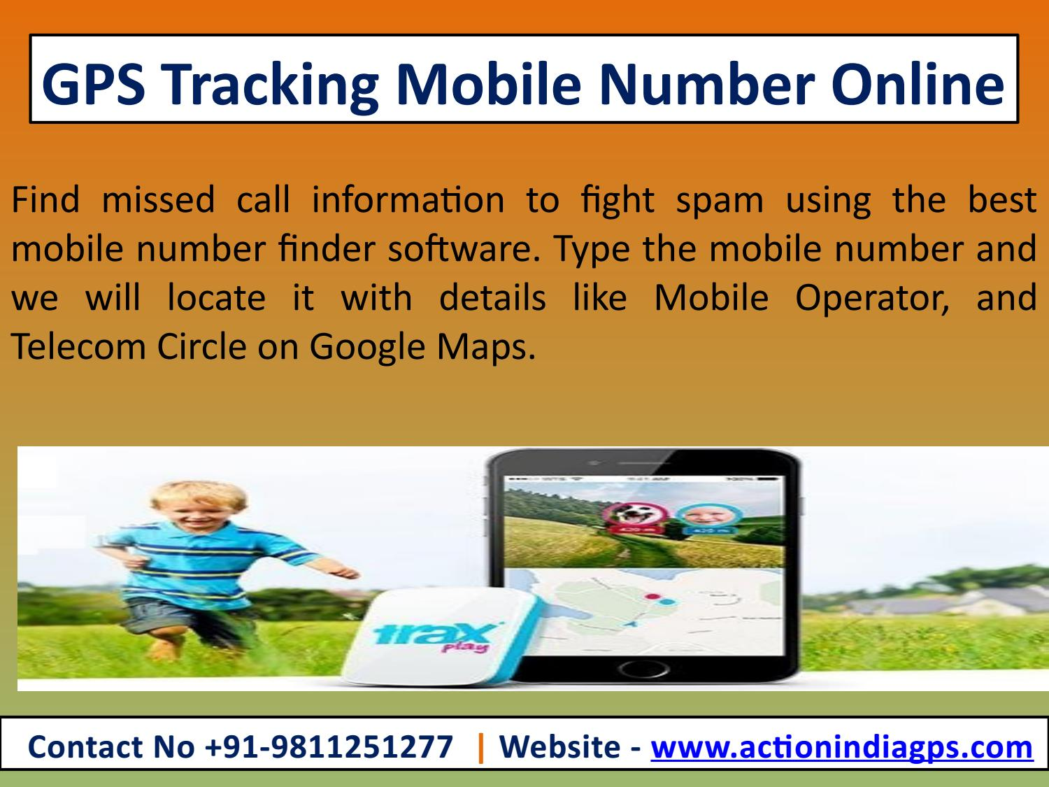 Mobile number locator in map software