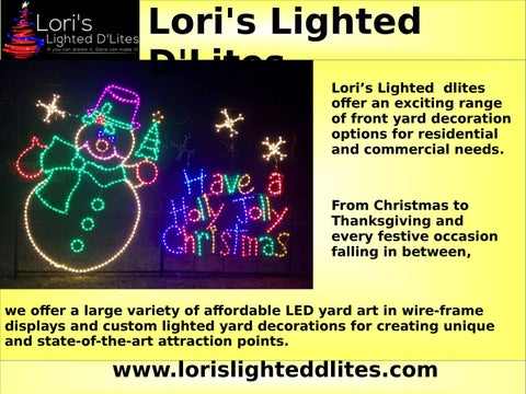Outdoor Lighted Christmas Decorations Led By