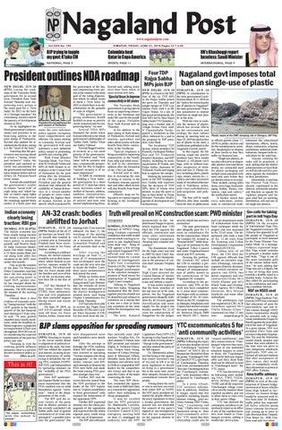 016daf6d83 June 21, 2019 by Nagaland Post - issuu