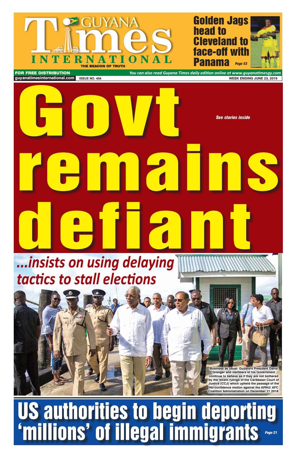 Guyana Times International 21-June-2019 by Gytimes - issuu