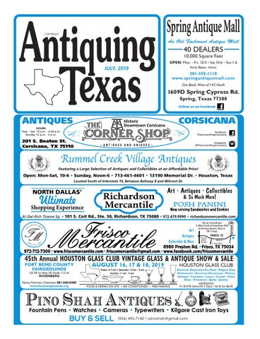 Antiquing Texas July, 2019 by Antiquing Texas - issuu