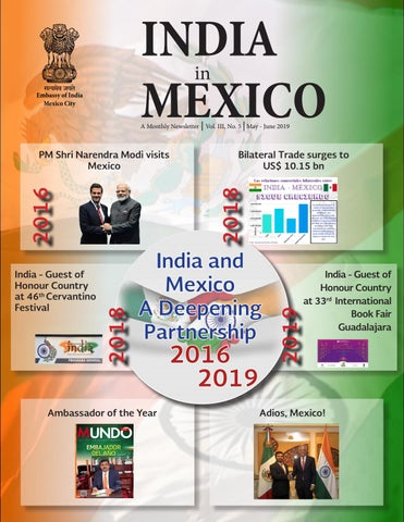 India in Mexico Newsletter May-June 2019 by Embassy of India in