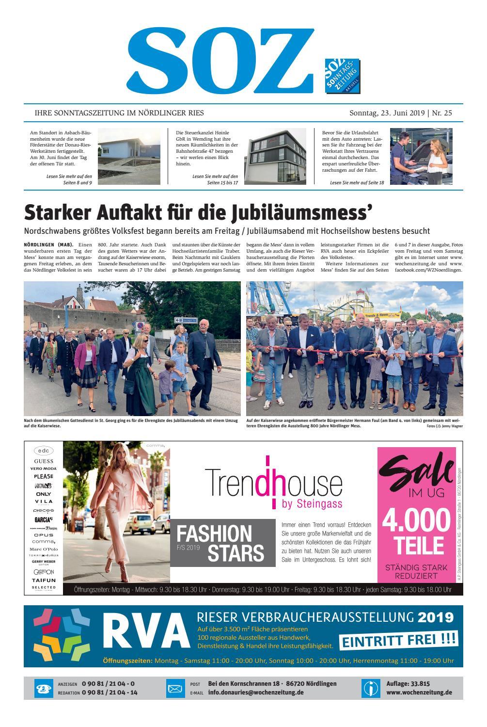 a4cda57c3c SonntagsZeitung Nördlingen KW 25.19 by WochenZeitung / SonntagsZeitung -  issuu