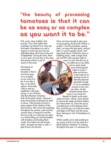 Page 203 of Summer's Bounty: Hot Water Bath Canning Tomatoes