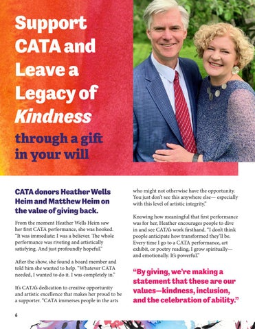 Page 6 of Support CATA and Leave a Legacy of Kindness through a gift in your will