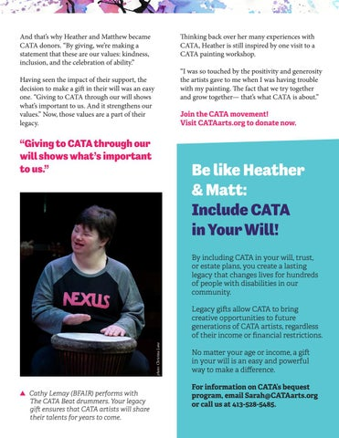Page 7 of Support CATA and Leave a Legacy of Kindness through a gift in your will