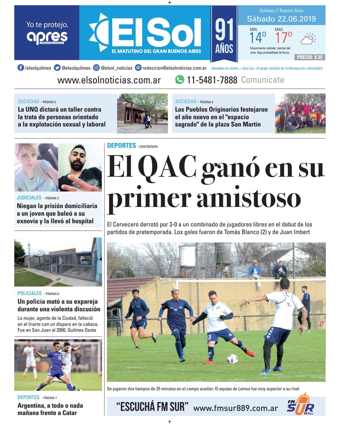 Diario El Sol 22-06-2019 by EL SOL URBANA - issuu