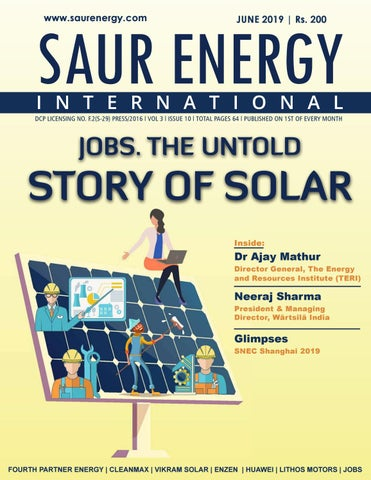 Saur Energy Magazine June 2019 by Saur Energy International