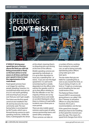 Page 22 of Speeding - Don't risk it